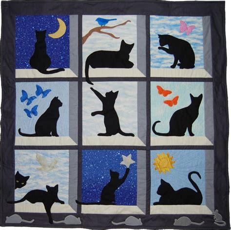 quilt pattern cat 596 best cat quilts images on pinterest houston