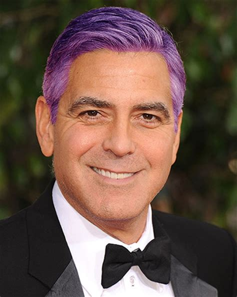 george clooney with purple hair the purple store s