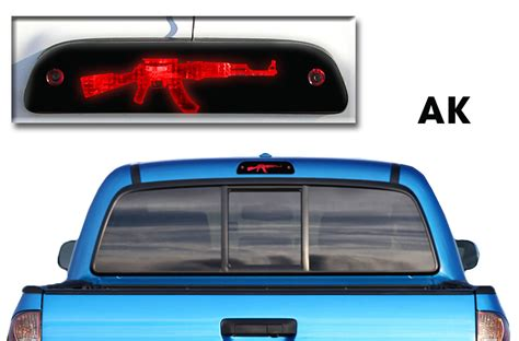 tacoma light covers toyota tacoma trd 05 13 vinyl graphics for3rd brake light