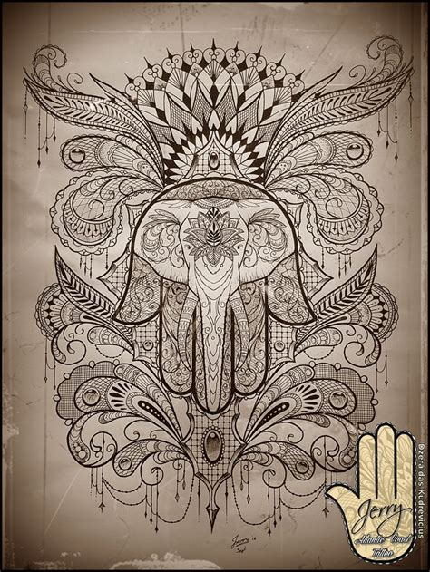 mandela tattoo designs hamsa elephant idea design mandala lace by