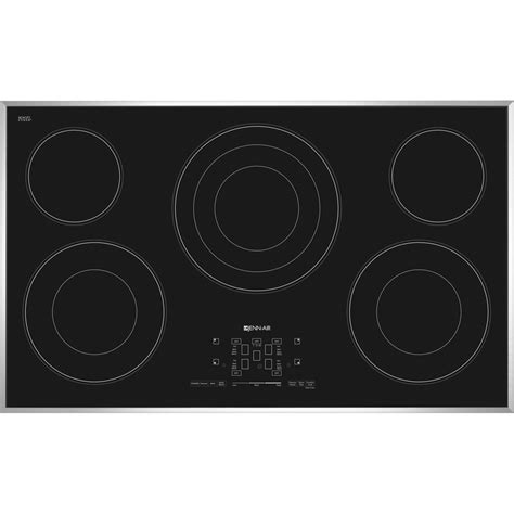 jenn air cooktop jec4536bs jenn air 36 quot electric radiant cooktop stainless black my appliance source