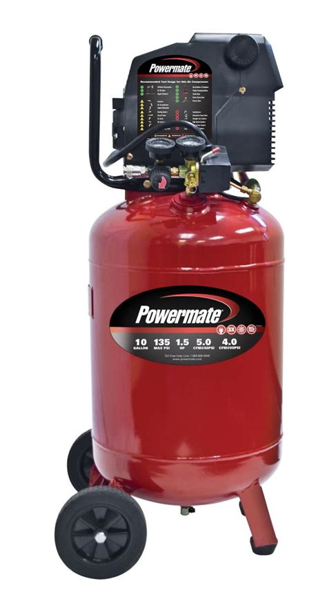 powermate 10 gallon electric air compressor with
