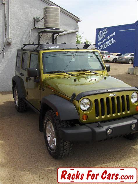 thule jeep rack jeep wrangler jk roof racks and spare tire bike racks