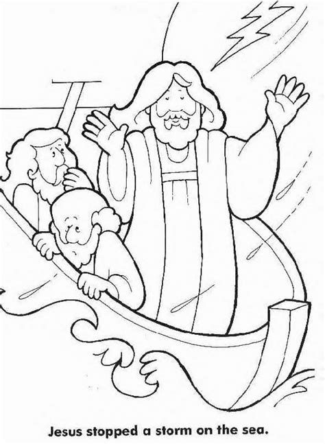 coloring pages jesus calms the jesus calms the coloring page coloring home