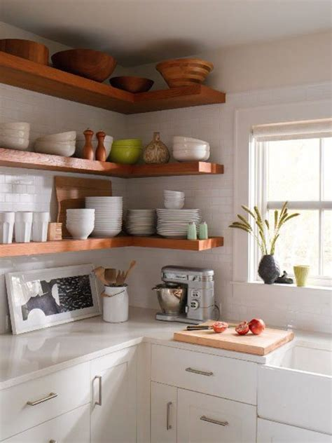 open shelving kitchen cabinets shelves house mix