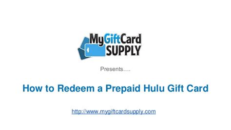 Hulu Gift Card - how to redeem a hulu plus gift card