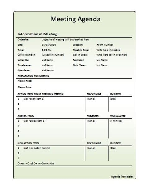 monthly meeting minutes template 13 best images about meeting agenda on