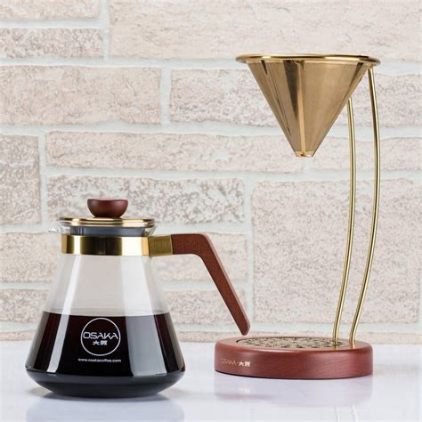 Coffee Dripper large gold pour coffee dripper by osaka coffee