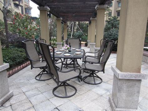 Patio Dining Chairs Outdoor Dining Chairs Patio Chairs Dinette Sets With Swivel Chairs