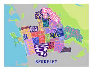where is berkeley california on a map berkeley typographic neighborhood maps from the framer s