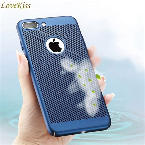 for iphone x 10 phone cases for iphone 8 7 plus luxury heat dissipation pc back cover for