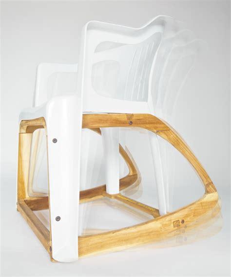 designboom rocking chair seniman s bar roker rocking chair combines plastic mold