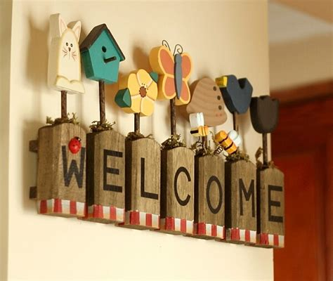 7pcs lot wood words home decoration wall brief design