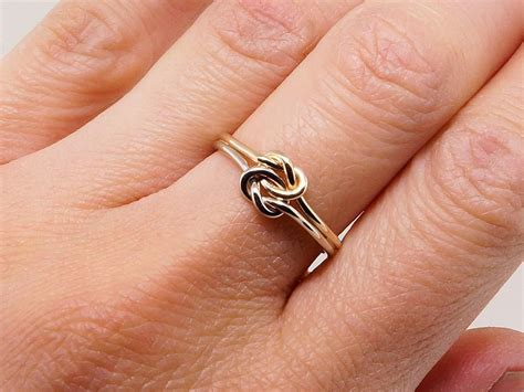 knot gold engagement ring thick