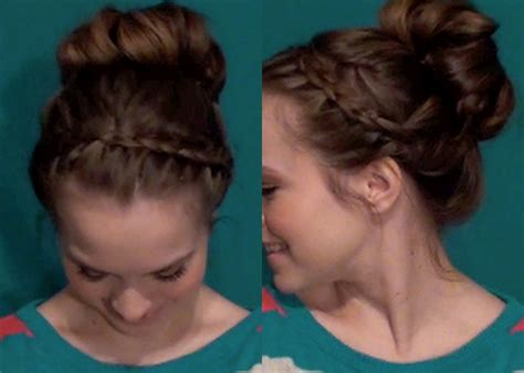 back to school hairstyles by luxy hair cute without trying bun back to school updos 4 youtube