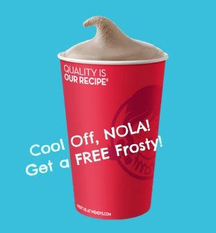 wendys frosty  nola  memorial day  experimental mommy