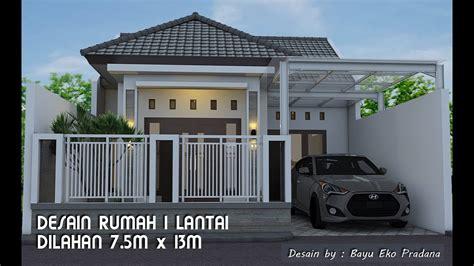desain rumah satu lantai  lahan      youtube