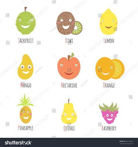 p letter fruits vector set alphabet fruits berries letters stock vector