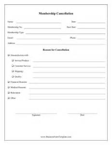 membership form template doc membership cancellation form template