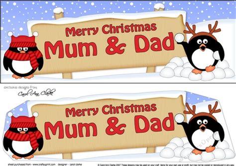 large dl merry christmas mum dad  penguins  decoupage cup craftsuprint