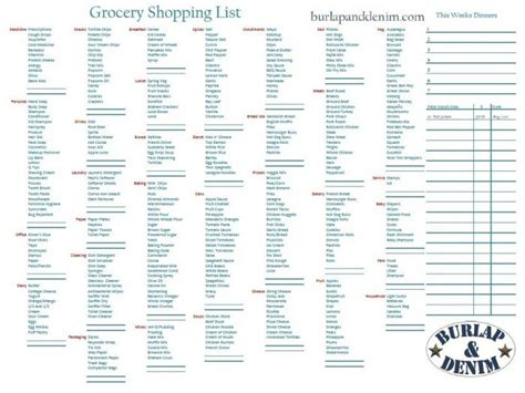 free printable grocery list walmart 8 best images of printable grocery list by aisle free