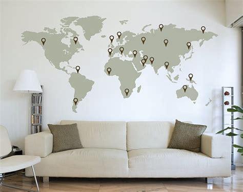 Map Of The World Wall Sticker laisser sa trace sur le monde le cahier