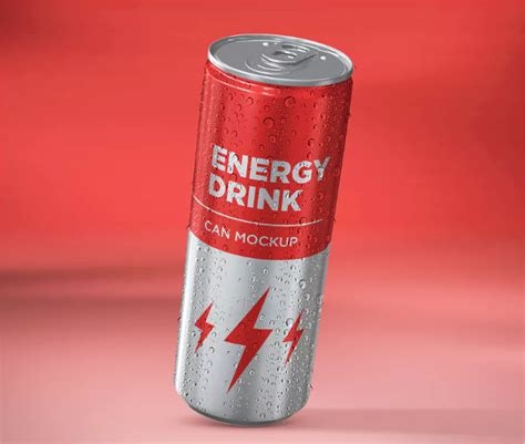 Energy Drink Can Mockup Design Energy Drink Design Template