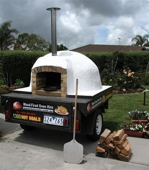mobile pizza oven mobile trailer mounted wood fired pizza oven food