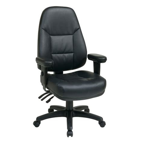 Office Chairs That Work Your Work Smart Black Leather High Back Office Chair Ec4300 Ec3