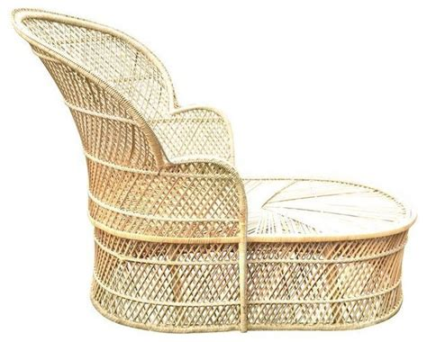 wicker chaise lounge indoor vintage wicker bohemian fan chaise lounge indoor chaise