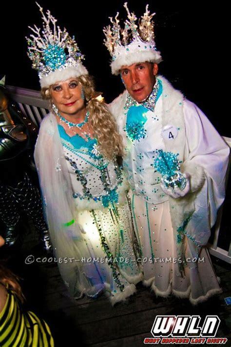 cool homemade couple costume idea sparkling snow queen