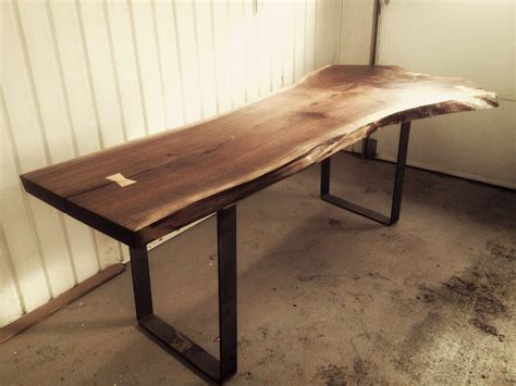 custom made dining room tables hand made live edge black walnut dining room table by bois