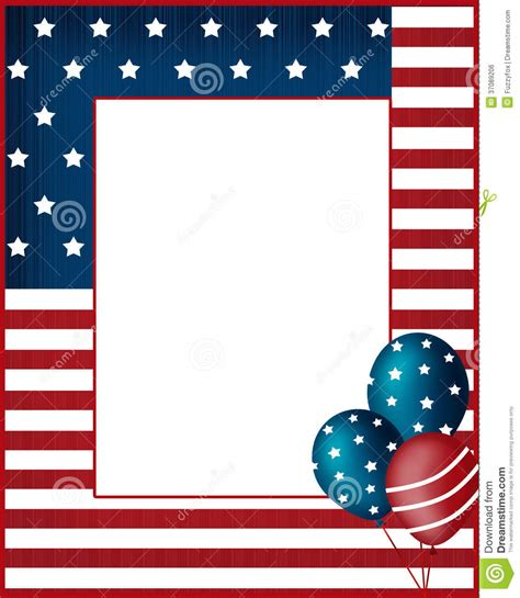 design frame usa independence day usa frame background royalty free stock