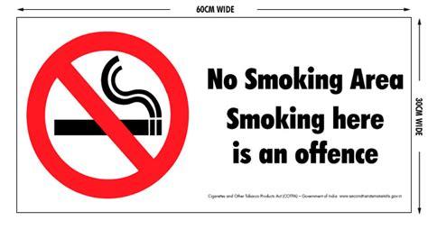no smoking sign in hindi smokefree signage