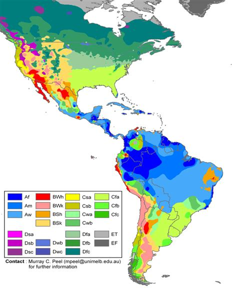 america s climate map of north america