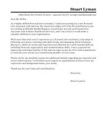 cover letter for personal care assistant best personal care assistant cover letter exles