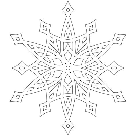 blank snowflake coloring page detailed christmas coloring pages half dozen 8x8 inch