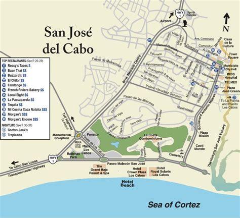 san jose cabo map mexico cabo maps