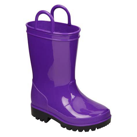 Intrigue Toddler Girl's Rain Boot Splash   Purple