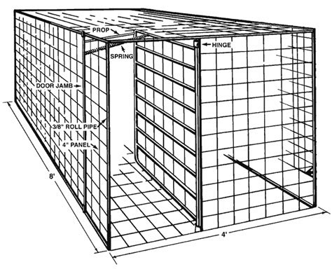 swing door hog trap plans portable hog trap plan