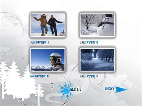 winter titles and dvd menus pinnacle template winter pack