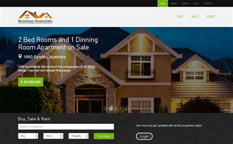 bootstrap templates for real estate free download 25 bootstrap real estate templates designerslib com