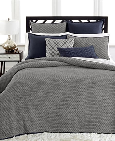 macy s coverlet closeout hotel collection linen navy coverlet collection
