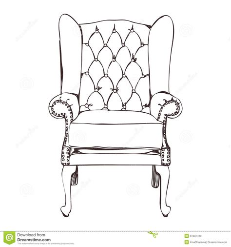 how to draw a armchair an armchair stock vector image 51337419