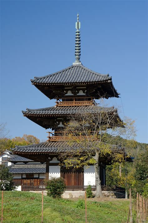 architecture pagoda at hokki ji ikaruga nara built in