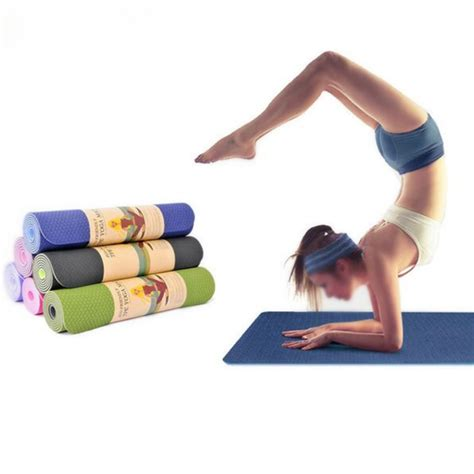 Outdoor Workout Mat by Tpe Bicolor 6mm Mat Outdoor Fitness Sport Anti Skid