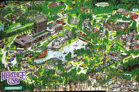 Theme Park Usa | theme park brochures heritage usa theme park brochures
