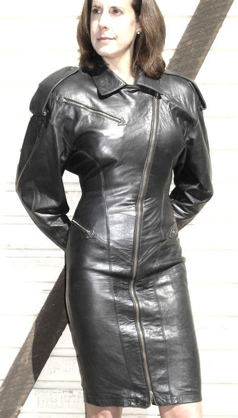 Leather Ebay ebay leather leather biker dress sells for 285