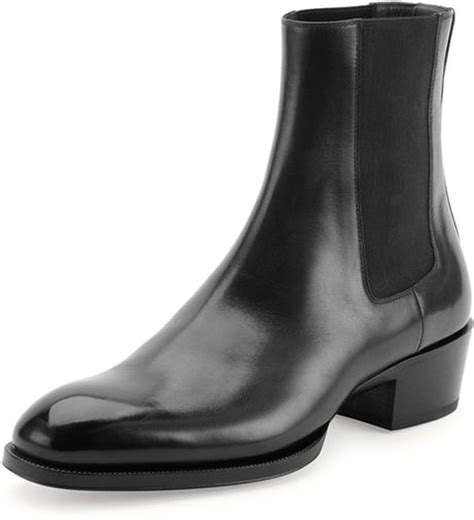 tom ford mens boots tom ford chelsea boot in black for lyst