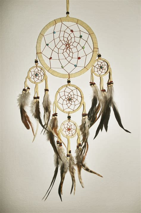 Handmade Dreamcatchers - handmade catcher med size the white clover shop